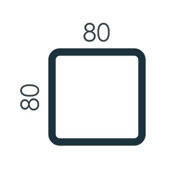 Słupy 80x80